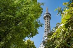 Torre de Petrin en Praga Fotografía de archivo
