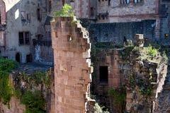 Torre de piedra del castillo en Heidelberg Alemania Fotos de archivo