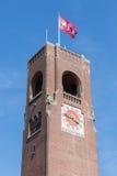 Torre de piedra del ladrillo del mercado de acción de Amsterdam Foto de archivo libre de regalías