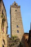 Torre de piedra medieval San Gimignano Italia fotografía de archivo