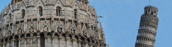 Torre de Pisa, la torre inclinada de Pisa Imagen de archivo libre de regalías