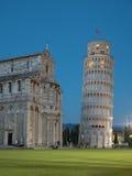 Torre de Pisa na noite Imagem de Stock Royalty Free