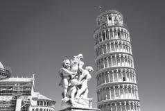 Torre de Pisa Pequim, foto preto e branco de China Foto de Stock