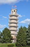 Torre de Pisa que se inclina en Chicago Imágenes de archivo libres de regalías