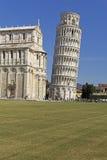 Torre de Pisa y de la catedral, Italia Imagenes de archivo