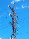Torre de poder de alto voltaje Fotos de archivo libres de regalías