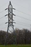 torre de poder de arriba eléctrica del enrejado de acero del Multi-circuito Foto de archivo libre de regalías