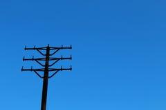 Torre de poder del metal sin los alambres Fotos de archivo libres de regalías