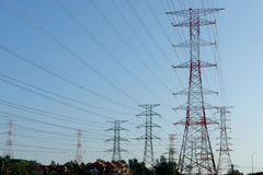 Torre de potencia Fotografía de archivo