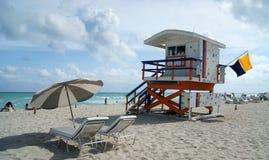 Torre de protector de vida de la playa del sur Imagen de archivo