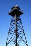 Torre de protector en la isla de Alcatraz Imagen de archivo libre de regalías