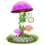 Torre de pulso de disparo bonito do cogumelo Fotografia de Stock Royalty Free
