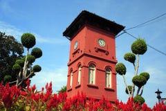 Torre de pulso de disparo da História em Melaka Imagens de Stock