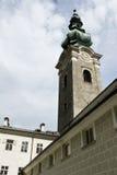 Torre de pulso de disparo da igreja Foto de Stock Royalty Free