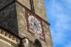 Torre de pulso de disparo da igreja preta Biserica Neagra Imagens de Stock Royalty Free