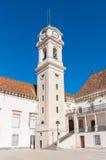 A torre de pulso de disparo da universidade de Coimbra fotografia de stock royalty free