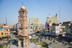 Torre de pulso de disparo de Faisalabad Foto de Stock Royalty Free