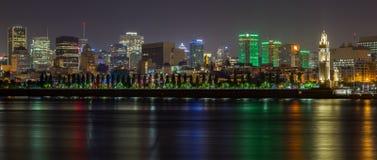 Torre de pulso de disparo de Montreal na noite Fotografia de Stock Royalty Free