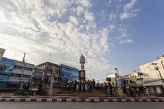 A torre de pulso de disparo de Phitsanulok a cerimônia para comemorar o rei Fotografia de Stock