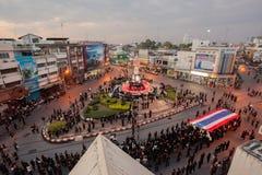 A torre de pulso de disparo de Phitsanulok a cerimônia para comemorar o rei Imagem de Stock