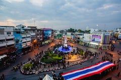 A torre de pulso de disparo de Phitsanulok a cerimônia para comemorar o rei Fotografia de Stock Royalty Free