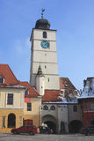 Torre de pulso de disparo de Sibiu Imagens de Stock