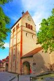 Torre de pulso de disparo de St Mary e de Mark Abbey em Reichenau Fotografia de Stock