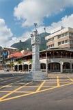 A torre de pulso de disparo de Victoria, Seychelles Foto de Stock Royalty Free