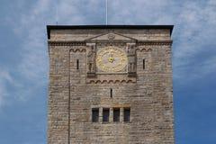 Torre de pulso de disparo do castelo imperial em Poznan, Polônia fotografia de stock