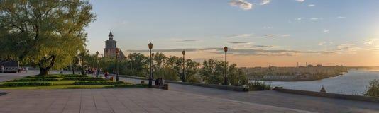 A torre de pulso de disparo do Kremlin de Nizhny Novgorod Imagem de Stock