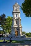 A torre de pulso de disparo Dolmabahce, Istambul Fotografia de Stock