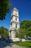 A torre de pulso de disparo Dolmabahce, Istambul Imagens de Stock
