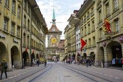 A torre de pulso de disparo em Berna, Suíça Foto de Stock