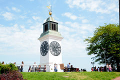 Torre de pulso de disparo em Novi Sad, Serbia Imagens de Stock Royalty Free
