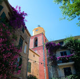 Torre de pulso de disparo em St Tropez fotos de stock