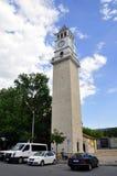 Torre de pulso de disparo em Tirana, Albânia fotografia de stock