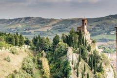 Torre de pulso de disparo medieval de Brisighella Fotos de Stock Royalty Free