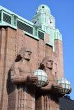Torre de pulso de disparo na estação de trem da central de Helsínquia Imagem de Stock Royalty Free