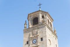 Torre de pulso de disparo no quadrado de Andalucia, Ubeda, Jae'n, Espanha Fotografia de Stock