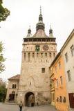 A torre de pulso de disparo Sighisoara Fotografia de Stock Royalty Free