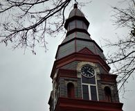 Torre de pulso de disparo do tribunal do Condado de Pulaski imagem de stock
