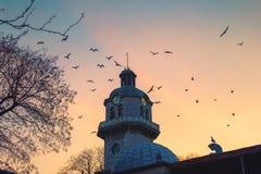 Torre de pulso de disparo no centro de cidade de Varna, Bulgária Foto de Stock
