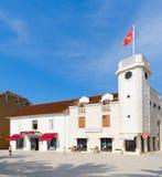 Torre de pulso de disparo Sat Kula, Tivat, Montenegro Foto de Stock