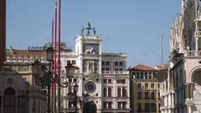 Torre de pulso de disparo de St Mark Veneza, Italy vídeos de arquivo