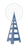 Torre de radio Imágenes de archivo libres de regalías