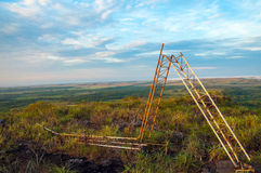 Torre de radio caida de FARC Fotografía de archivo libre de regalías
