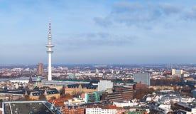 Torre de radio de la telecomunicación de Hamburgo imágenes de archivo libres de regalías