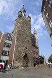 Torre de Rathaus em Aix-la-Chapelle, Alemanha Fotos de Stock