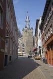 Torre de Rathaus em Aix-la-Chapelle, Alemanha Fotos de Stock Royalty Free