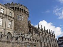 Torre de registro, detalle de Dublin Castle, Irlanda fotografía de archivo libre de regalías
